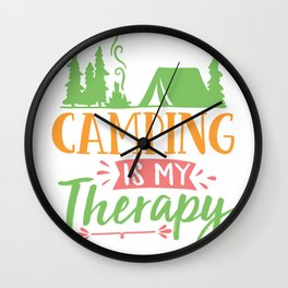 Camping is my therapy - Adventure Design Wall Clock