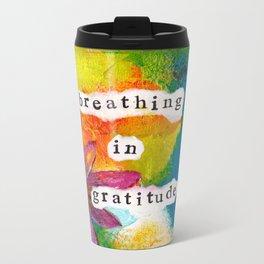 Breathing In Gratitude Travel Mug