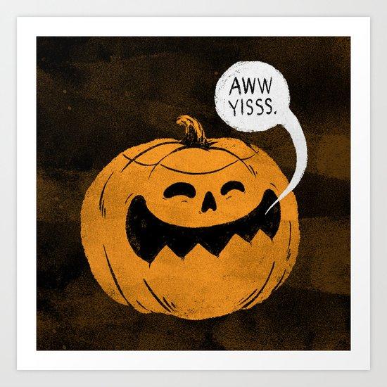 Pumpkin Season Art Print