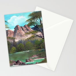 Mountains in Summer Stationery Cards