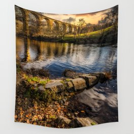 Railway Viaduct Sunset Wall Tapestry