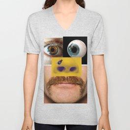 Face Collage  Unisex V-Neck