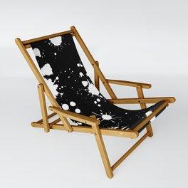 Black and White Splatter Sling Chair