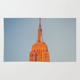 Sun Setting on the Empire State Building Rug