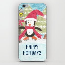Ice Skating Penguin iPhone Skin