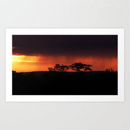 Breaking Rain at Sunset Art Print