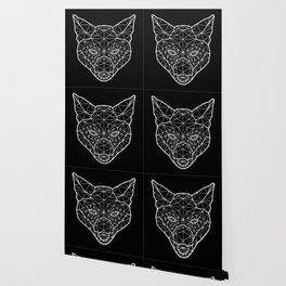 Geometric / Low Poly Fox (White) Wallpaper