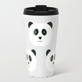 Panda Love Gray Travel Mug