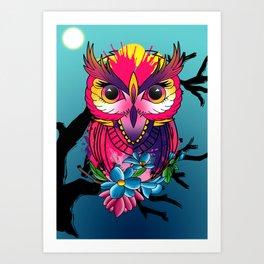 owl bird Art Print