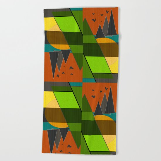 Abstraction.  Beach Towel
