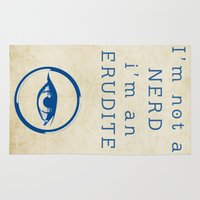divergent Area & Throw Rugs featuring NERD? ERUDITE - DIVERGENT by MarcoMellark