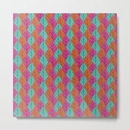 Colourful leaves pattern Metal Print