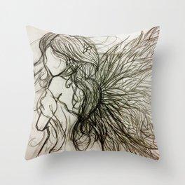 Faceless Angel Throw Pillow