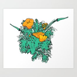 California Poppies Art Print