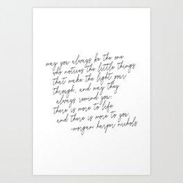 May you always Art Print