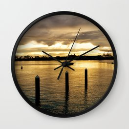 Settling in the Bay Wall Clock