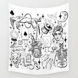 Antique Magic Starter Pack Black and White Wall Tapestry