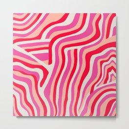 pink zebra stripes Metal Print