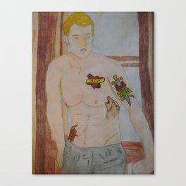 Steve Rogers - Tattoo Canvas Print