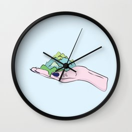 The Earth Is In Our Hands Wall Clock