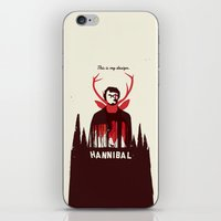 hannibal iPhone & iPod Skins featuring Hannibal by Risa Rodil
