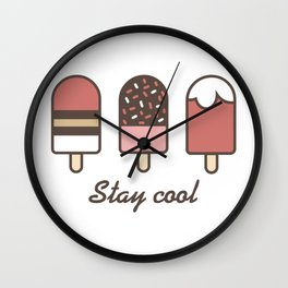 Stay cool popsicles Wall Clock