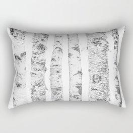 Birch Trees | Forest Landscape Photography Minimalism Rectangular Pillow