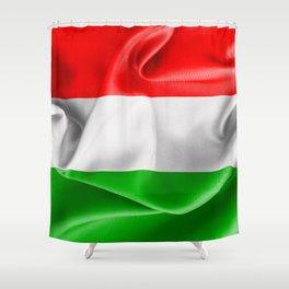 Hungary Flag Shower Curtain