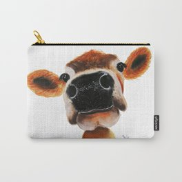 Nosey Cow ' JERSEY JOY ' by Shirley MacArthur Carry-All Pouch