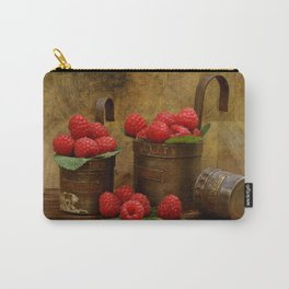 Raspberries in vintage measuring caps Carry-All Pouch