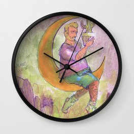 cactus boy in the moon Wall Clock