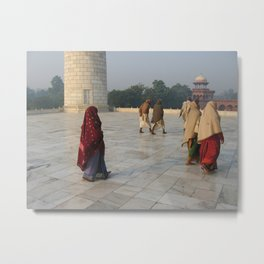 Taj Mahal Pilgrims in Agra, India (2004g) Metal Print