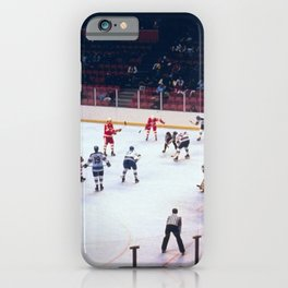 Vintage Hockey Match iPhone Case