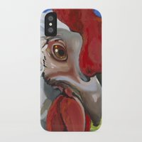 chicken iPhone & iPod Cases featuring Chicken by Jeanne Hollington