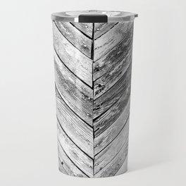 Vintage wood pattern Travel Mug