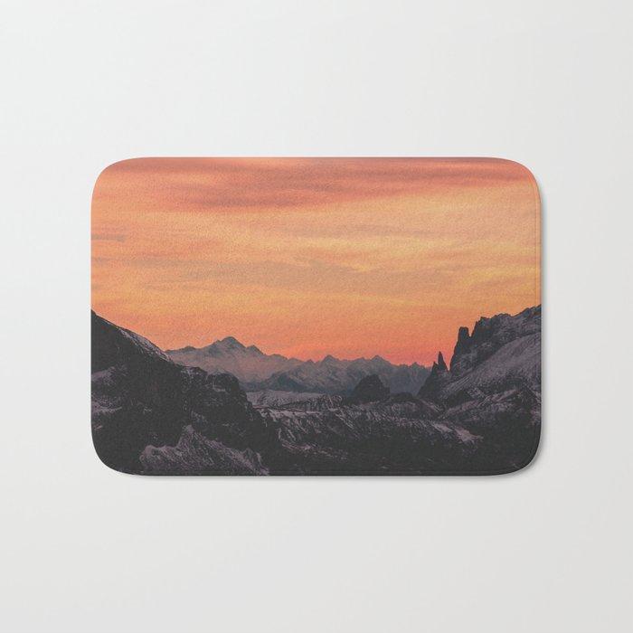 Pastel Sunset #mountains #society6 Bath Mat