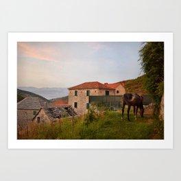 Serene Night in Croatia Art Print