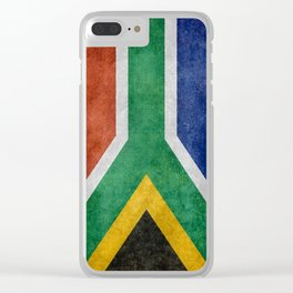 Flag of the Republic of South Africa Clear iPhone Case