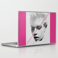 stripe Laptop & iPad Skins featuring PiNk STripe to ART by ''CVogiatzi.