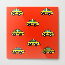 NYC Taxi Cabs Metal Print