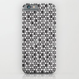 Black and White Small Hexagonal Pattern iPhone Case