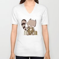 groot V-neck T-shirts featuring Grow Groot by Manfred Maroto