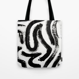Black and White Abstract Pattern 1: A minimal black and white pattern by Alyssa Hamilton Art Tote Bag