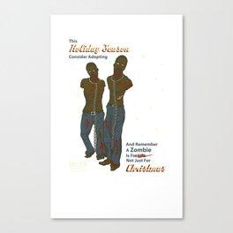 Adopt a Zombie PSA Canvas Print