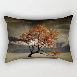 Lone Tree Of Lake Wanaka, New Zealand Rectangular Pillow