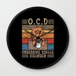 Obsessive Coffee Disorder Wall Clock