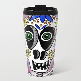 Sugar Skully Metal Travel Mug