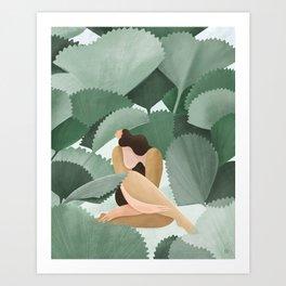 Fan Palms Art Print