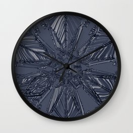 Snow Marries Stone Wall Clock