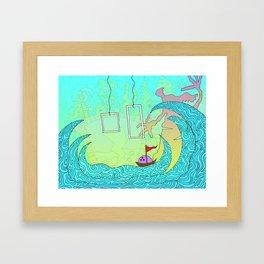 #212: Bowling Through Waves Framed Art Print